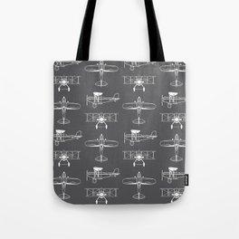 Biplanes // Charcoal Tote Bag