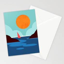 Abstraction_SUNSET_BEACH_OCEAN_Minimalism_001 Stationery Cards