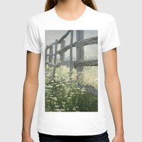 rustic T-shirts featuring Rustic Fence by Pure Nature Photos