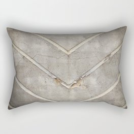 Concrete Chevron Rectangular Pillow