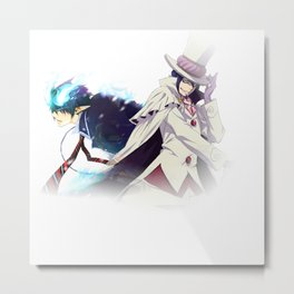 ao no exorcist fade sides Metal Print