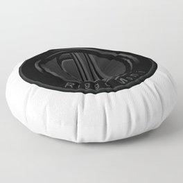 Riggo Monti Design #2 - Riggo Emblem (Wht. Bkgrnd.) Floor Pillow