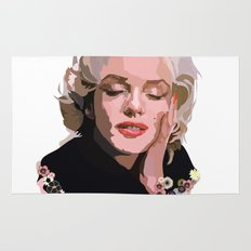 Marilyn Monroe with Flowers Rug