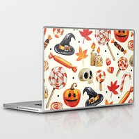 halloween Laptop & iPad Skins featuring halloween by Ceren Aksu Dikenci