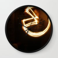 pacman Wall Clocks featuring Pacman by Audrey's Photography