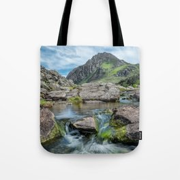 Tryfan Mountain Stream  Tote Bag