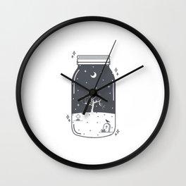 Halloween in a jar Wall Clock