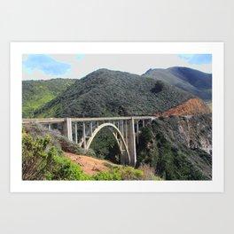 Look at the Bixby Bridge Art Print