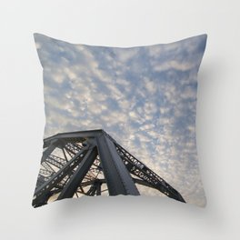 Silver Span Throw Pillow