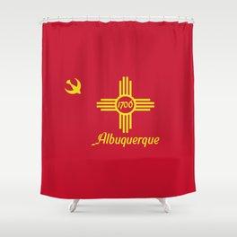 Flag of Albuquerque Shower Curtain