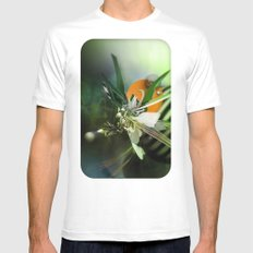 Angel White Mens Fitted Tee MEDIUM