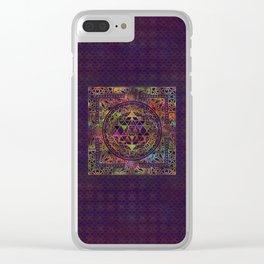 Colorful Sri Yantra  / Sri Chakra Clear iPhone Case