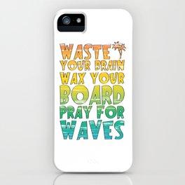 Rainbow Gradient Surfing Movie Quote iPhone Case
