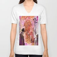 moriarty V-neck T-shirts featuring Sherlock  VS  Moriarty by Ganech joe