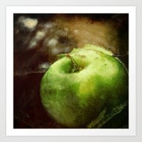 apple Art Prints featuring Apple  by Bella Blue Photography