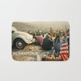 Woodstock, Music Festival 1969. Flower Power,Hippies and Fun Bath Mat