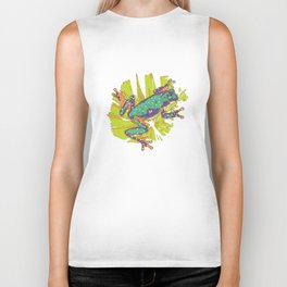 Tropical summer rainforest party Biker Tank