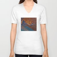 lizard V-neck T-shirts featuring Lizard by Vilnis Klints
