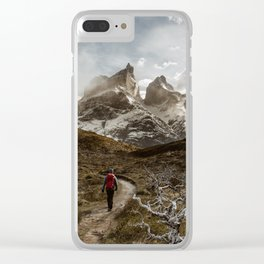 Hiking Torres Del Paine Clear iPhone Case