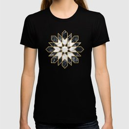 Black and white marble Moroccan mosaic T-shirt