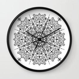 Moroccan Mandala – Black Ink Wall Clock