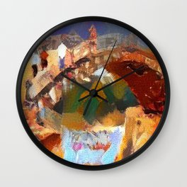 The Bridge at Nishiki River Wall Clock