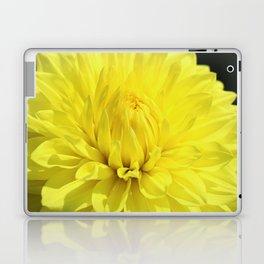 Glowing Yellow Dahlia Laptop & iPad Skin