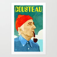 Jacques Cousteau Art Print