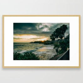 Cloudy Sunset Framed Art Print