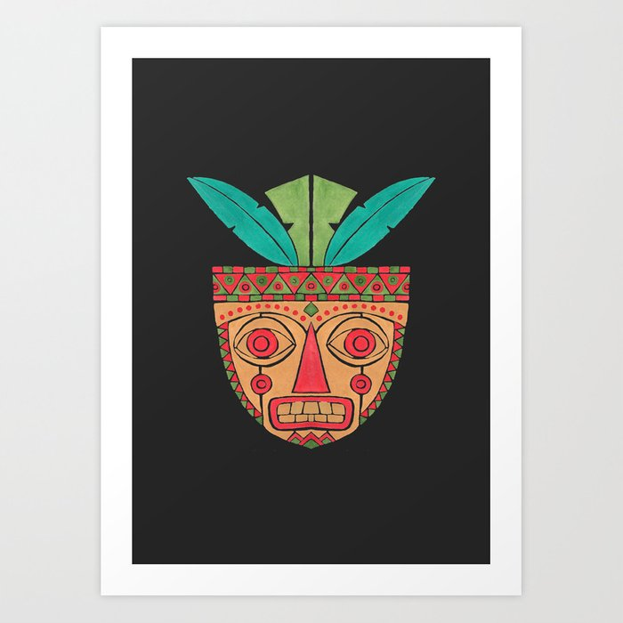 The Ethnic Mask Art Print