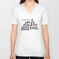 snl V-neck T-shirts featuring SNL Standby by Liana Spiro