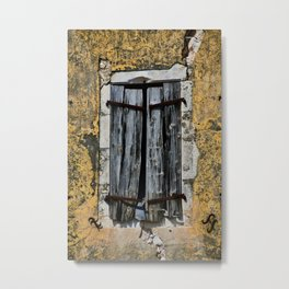 weathered window Metal Print