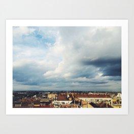 Windswept City Art Print