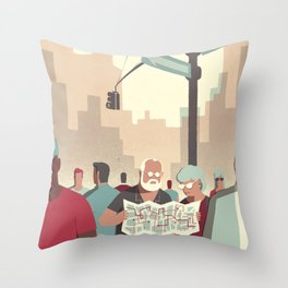 Day Trippers #2 - Lost Throw Pillow