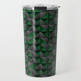 Tech Mosaic Green Travel Mug