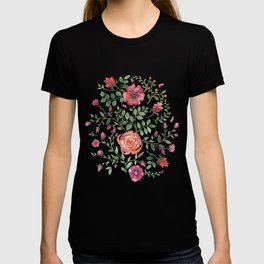 Watercolor floral roze T-shirt