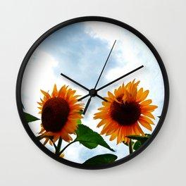 Deformed Sunflower Wall Clock