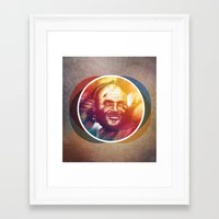 randy c Framed Art Prints featuring Randy Couture by Domen Colja