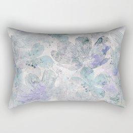 Nostalgic Pastel Flower Art Rectangular Pillow