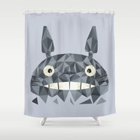 totes Shower Curtains featuring Totes by D. A. M. Good Prints