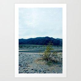 Mountains Across from Sand Dunes Art Print