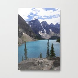 Moraine Lake Upper trail view Metal Print