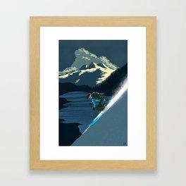 Retro Revelstoke ski poster Framed Art Print