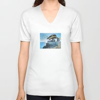 jamaica V-neck T-shirts featuring One Love… Jamaica by NisseDesigns