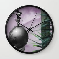 mickey Wall Clocks featuring Mickey by Dr.RPF