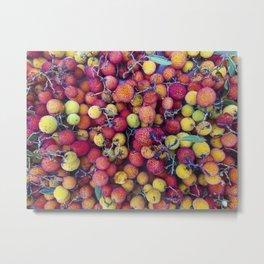 Colorful arbutus fruits #photography #arbutus Metal Print