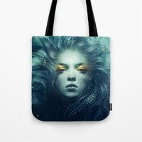 ink Tote Bags featuring Ink by Anna Dittmann