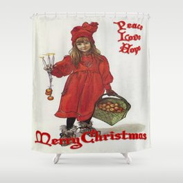 Peace, Love and Hope at Christmas Shower Curtain