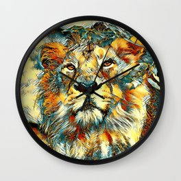 AnimalArt_Lion_20170607_by_JAMColorsSpecial Wall Clock