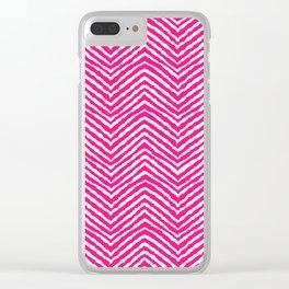 Chevron, Pink, Minimal, Pattern, Cute, Nursery, Kids, Modern art Clear iPhone Case